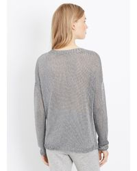 Vince - Metallic Knit Crew Neck Sweater - Lyst