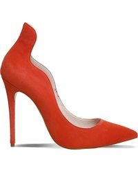 Office - Red Trouble Suede Courts - Lyst