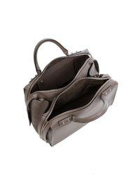 Karen Millen Brown Large Leather Box Bag