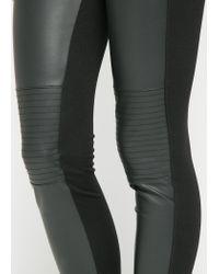 Mango - Black Biker Leggings - Lyst