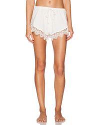 Lovers + Friends White Loungin' Around Shorts