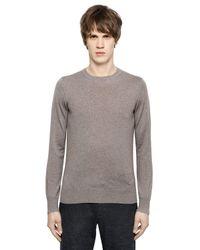 Emporio Armani Gray Virgin Wool Sweater for men