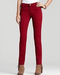 J Brand - Mid Rise Skinny Twill Jeans In Black Cherry - Lyst