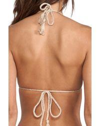 Anna Kosturova Metallic Seashore Bikini