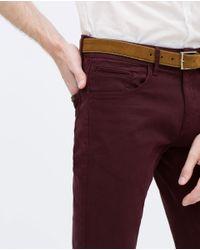 Zara | Purple Five-pocket Trousers for Men | Lyst