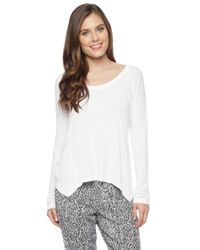 Splendid | White Light Jersey Long Sleeve Top | Lyst