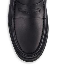 Rag & Bone - Black Tanja Platform Leather Loafers - Lyst