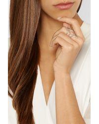 Anita Ko - Pink Tri-Point 18-Karat Rose Gold Diamond Ring - Lyst