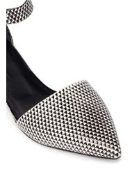 Proenza Schouler - Black Ankle Strap Geometic Leather Flats - Lyst