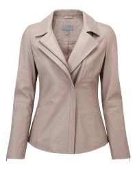 Pure Collection Natural Mallinson Leather Jacket