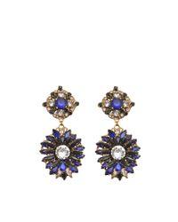 Erickson Beamon Blue Queen Bee Earrings