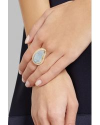 Melissa Joy Manning - Blue 14karat Gold Opal and Diamond Ring - Lyst
