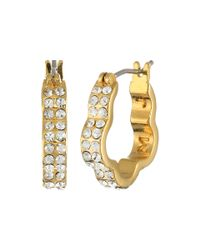 Marc By Marc Jacobs - Yellow Diamonds And Daisies Daisy Window Mini Hoops Earrings - Lyst