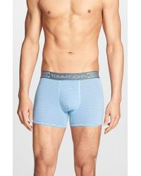 Tommy John | Blue 'cool Cotton' Trunks for Men | Lyst