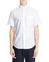 Patrik Ervell - White 'aircell' Trim Fit Short Sleeve Mesh Shirt for Men - Lyst