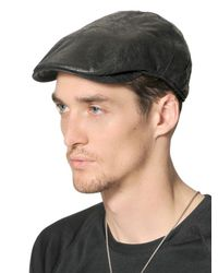 Borsalino Black Eco Mouton Flap Cap for men