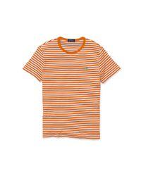 Polo Ralph Lauren Orange Striped Cotton Jersey T-shirt for men