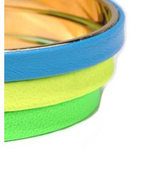 A.V. Max   Multicolor 3 Piece Python Bangle Set   Lyst