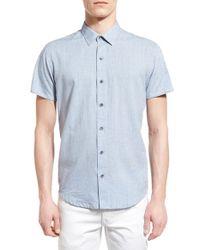 W.r.k. | Blue Trim Fit Dot Sport Shirt for Men | Lyst