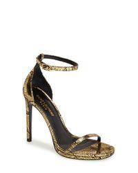 Saint Laurent - Black 'Jane' Ankle Strap Sandal - Lyst
