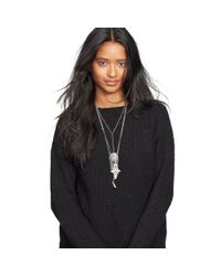 Denim & Supply Ralph Lauren | Black Rib-knit Crewneck Tunic | Lyst