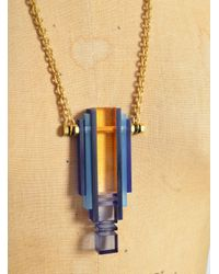 Lily Kamper - Long Rise Pendant In Blues - Sold Out - Lyst