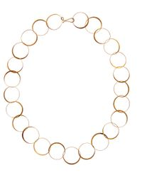 Melissa Joy Manning | Metallic Gold Half Flat Lightweight Hand Forged Chain Necklace | Lyst