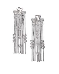 Ca&Lou | Metallic Crystal & Chain Fringe Earrings | Lyst