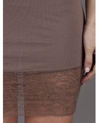 Raquel Allegra - Purple Lace Hem Slip Dress - Lyst