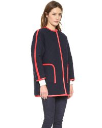 Rachel Comey Blue Kindred Coat - Navy/Red