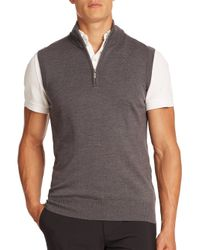J.Lindeberg - Gray Edi Tour Merino Sweater Vest for Men - Lyst
