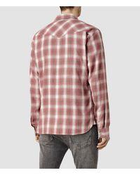 AllSaints | Brown Spokane Shirt Usa Usa for Men | Lyst