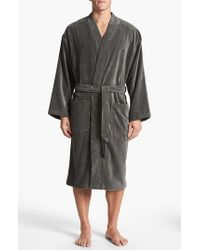 Polo Ralph Lauren | Gray Velour Kimono Robe for Men | Lyst
