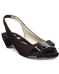 Anne Klein - Black Harlee Dress Sandals - Lyst