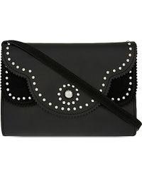 Sandro Black Adel Leather Shoulder Bag
