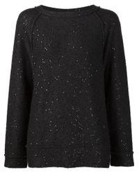 Brunello Cucinelli - Black Sequinned Sweater - Lyst