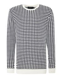 Paul Smith - Blue Pattern Crew Neck Pull Over Jumper for Men - Lyst