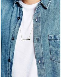 ASOS | Metallic Pendant Necklace In Gold for Men | Lyst