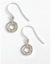 Lord & Taylor | Metallic Sterling Silver Double-circle Drop Earrings | Lyst