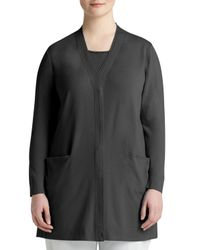 Lafayette 148 New York | Black Double-placket Long Cardigan | Lyst