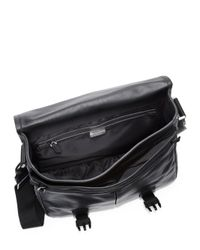 Givenchy | Black Obsedia Leather Messenger Bag for Men | Lyst