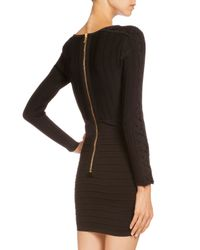 Balmain - Black Laced-front Bandage Mini Dress - Lyst