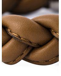 Valentino | Brown Braided Bracelet for Men | Lyst