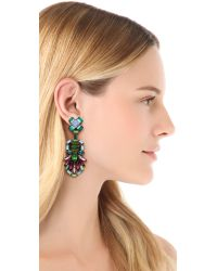 DANNIJO - Green Barney Earrings - Lyst