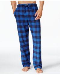 Polo Ralph Lauren | Blue Men's Plaid Flannel Pajama Pants for Men | Lyst