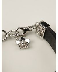 Fendi | Black Floral Bracelet | Lyst