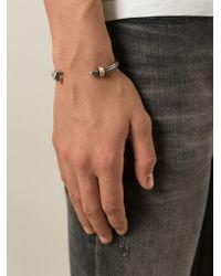 DIESEL - Metallic Nut And Bolt Bracelet for Men - Lyst