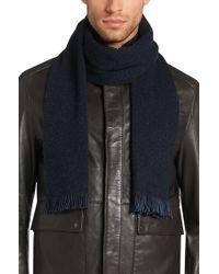 BOSS Blue 'marios'   Wool Silk Blend Melange Scarf for men
