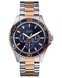 Guess | Pink Men's Two-tone Bracelet Watch 45mm U0172g3 | Lyst