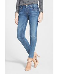 Vigoss - Blue Destroyed Skinny Jeans - Lyst
